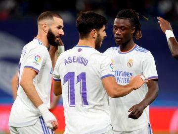 Asensio y Benzema contra el Mallorca en el Bernabéu
