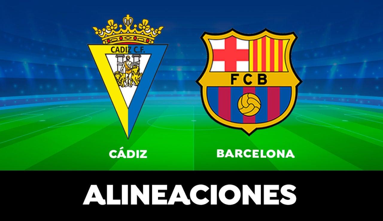 Alineación del Barcelona hoy contra el Cádiz en el partido de LaLiga