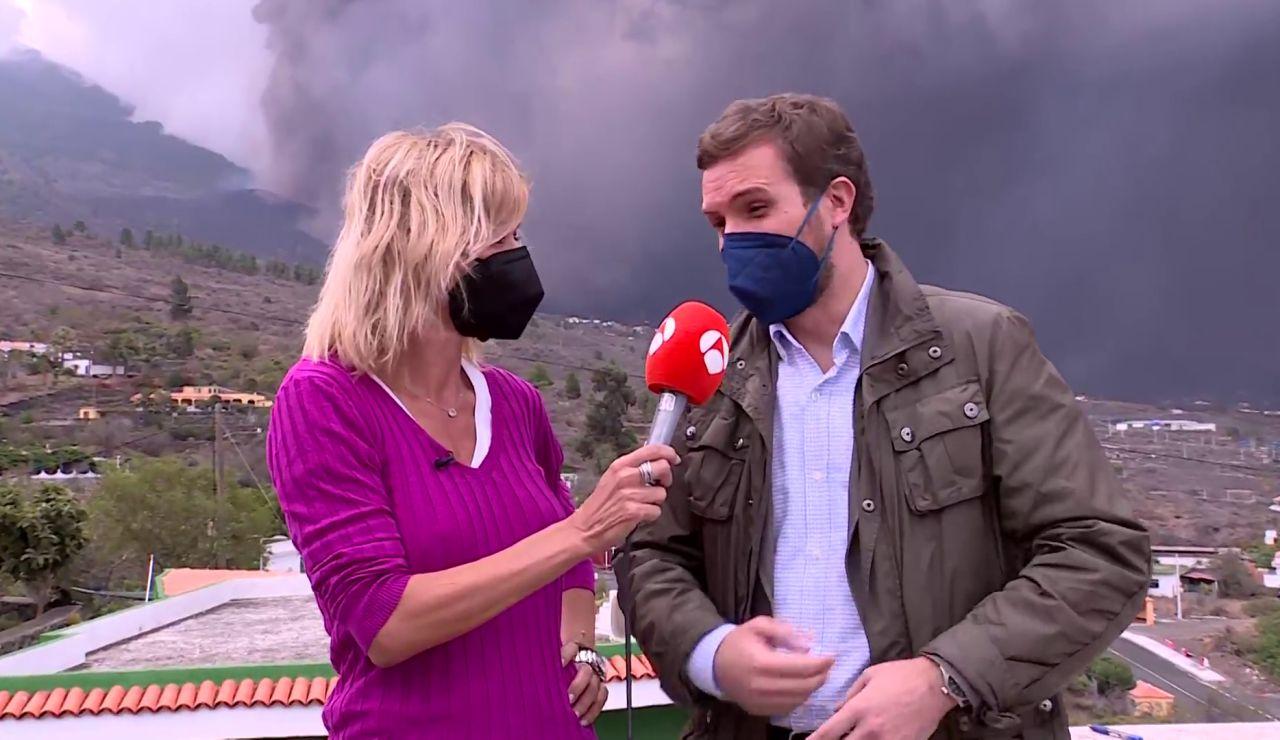 Pablo Casado, desde La Palma: