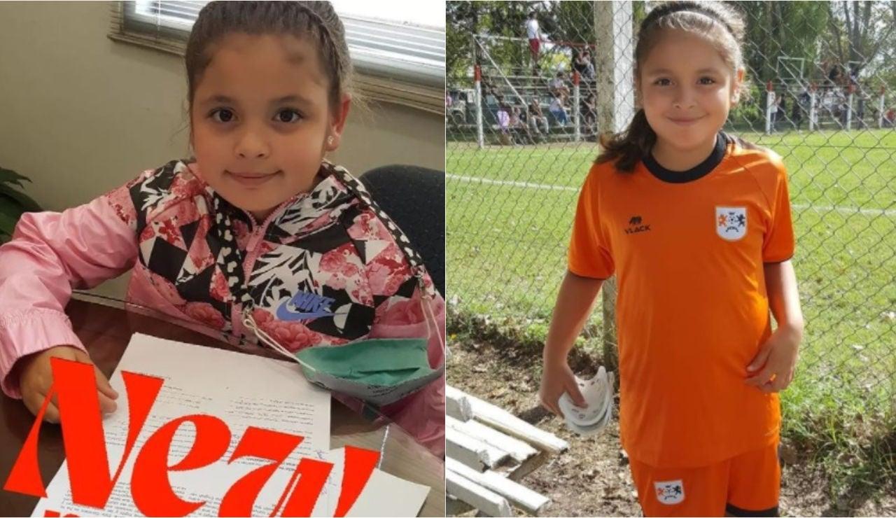 Felicitas Flores, la futbolista más joven en firmar un contrato con Nike a los 8 años