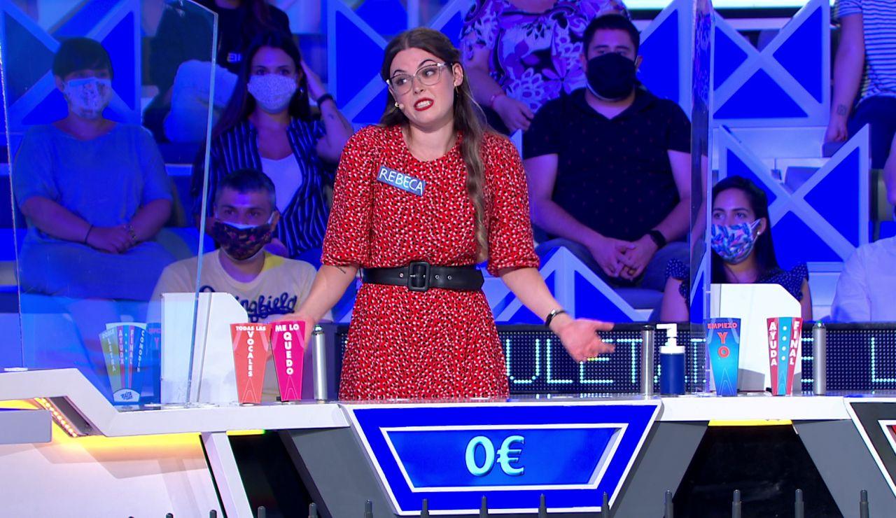 ¡Pierde más de mil euros! La buena racha de Rebeca se desmorona de un plumazo