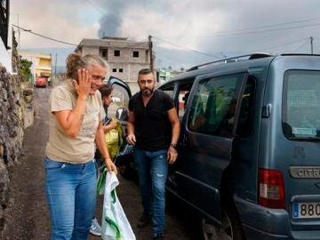 Vecinos de Todoque afectados por el volcán de La Palma