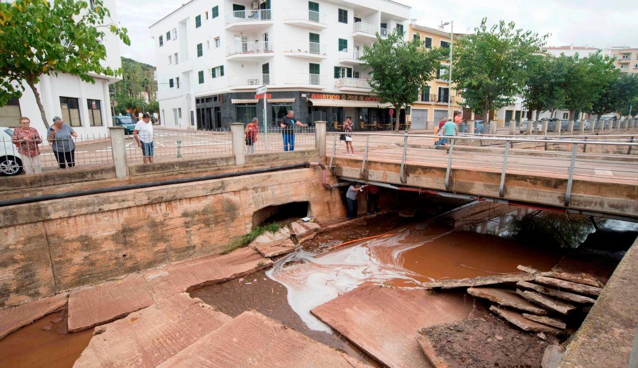 Destrozos ocasionados en Menorca tras el paso de la DANA