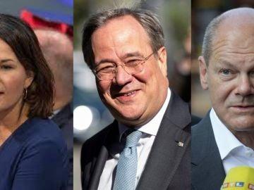Así son los tres candidatos que aspiran a suceder a la canciller Angela Merkel en las elecciones de Alemania