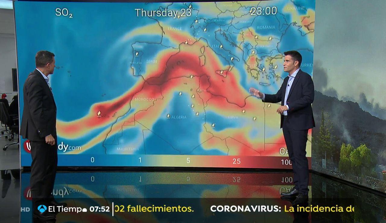 La nube del volcán no llegará a la Península