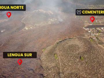 Imágenes de la evolución del volcán de La Palma, a vista de dron