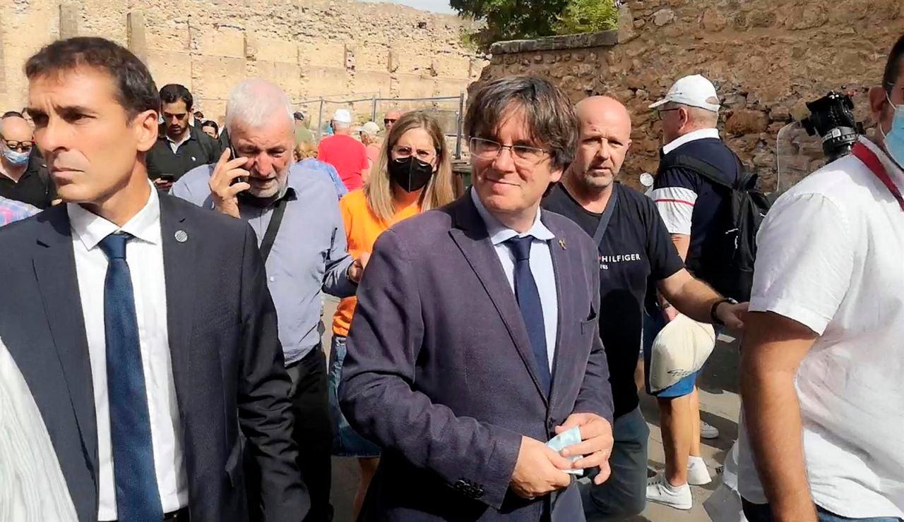 Pere Aragonès llega a Cerdeña en barco y se reunirá con Carles Puigdemont en Alguer