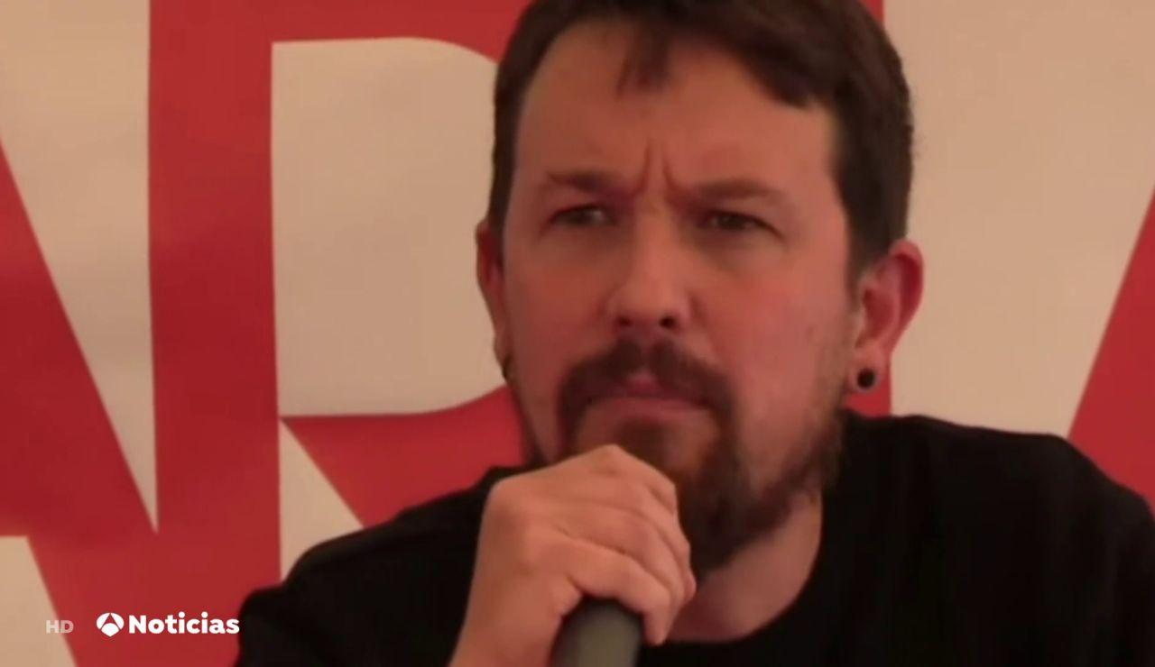 """Interrumpen el discurso de Pablo Iglesias en un acto político: """"¿Dónde está el cambio?"""""""