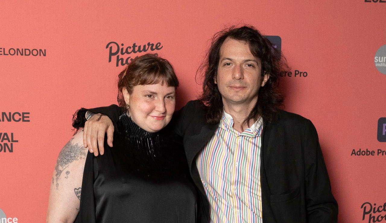 Lena Dunham y su pareja, el cantante Luis Felber