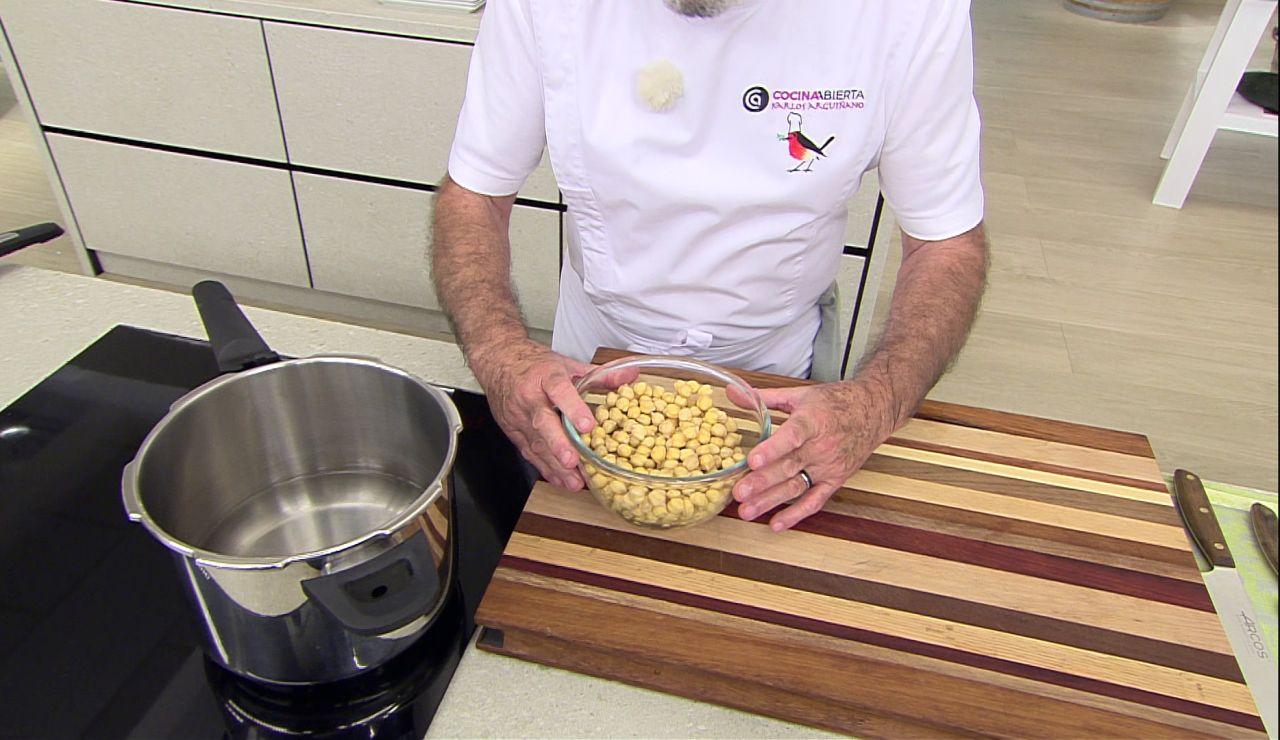 ¿Cuál es el tiempo ideal de cocción para los garbanzos? Arguiñano sabe la respuesta