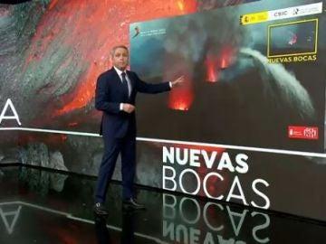 Vicente Vallés explica las dos nuevas bocas del volcán de La Palma