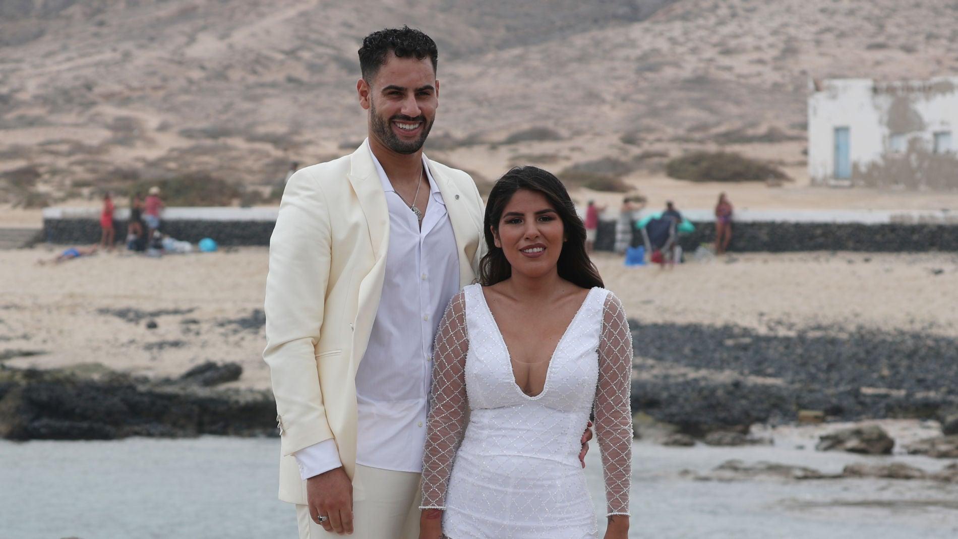 Isa Pantoja y Asraf Beno en la boda de Anabel Pantoja