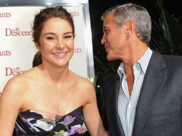 Shailene Woodley y George Clooney