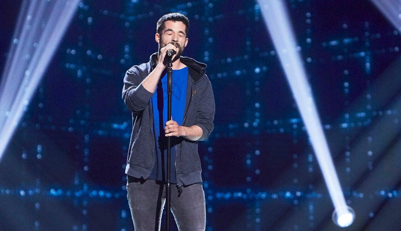 Jon Galdós canta 'Gravity' en las Audiciones a ciegas de 'La Voz'