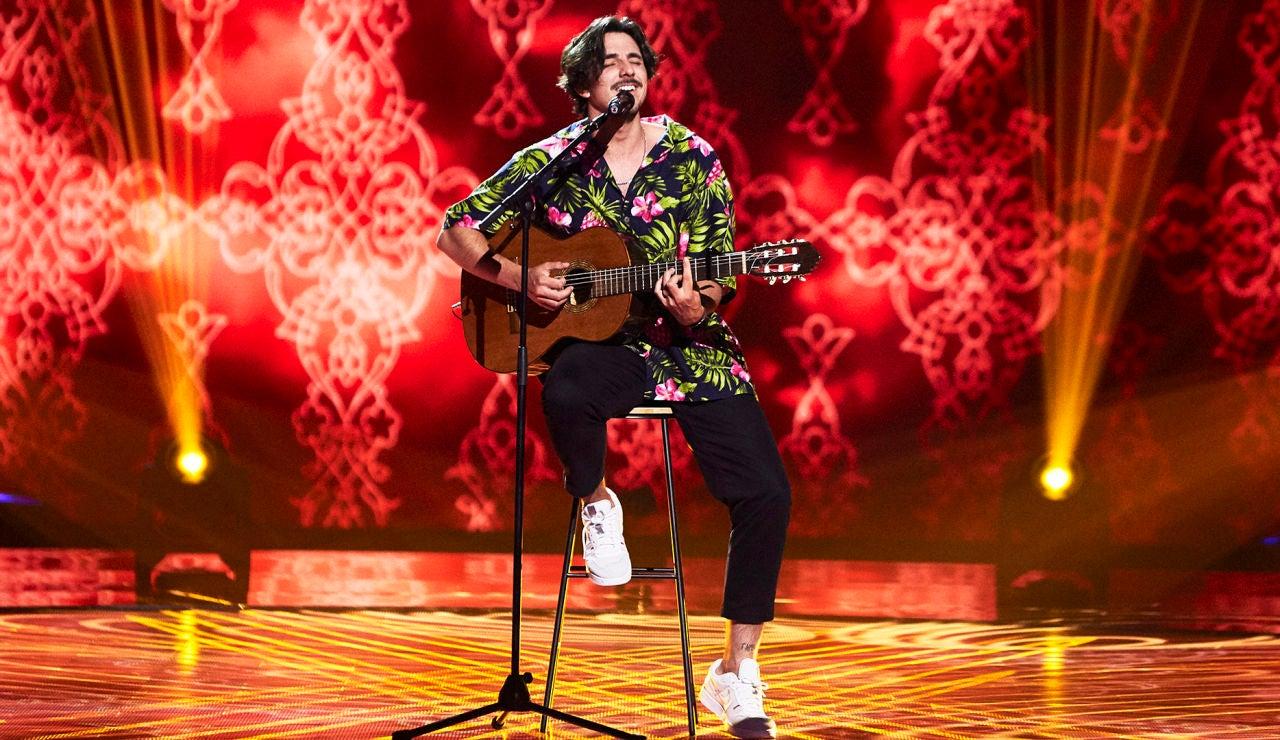 Pepe Borrero canta 'Soñar contigo' en las Audiciones a ciegas de 'La Voz'