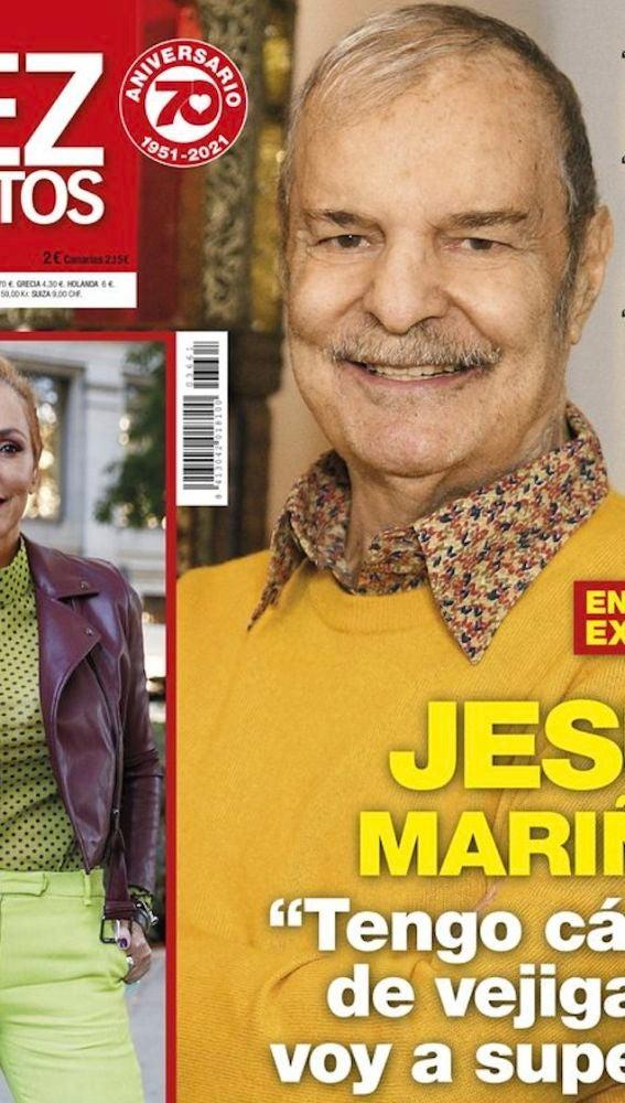 Jesus Mariñas en la portada de la revista 'Diez Minutos'