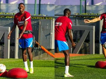 Ousmane Dembélé y Kun Agüero ya trabajan con el grupo y afrontan la recta final de su recuperación