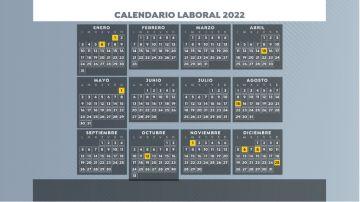 Calendario laboral y festivos 2022