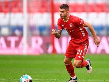 Lucas Hernández, en un partido con el Bayern de Múnich
