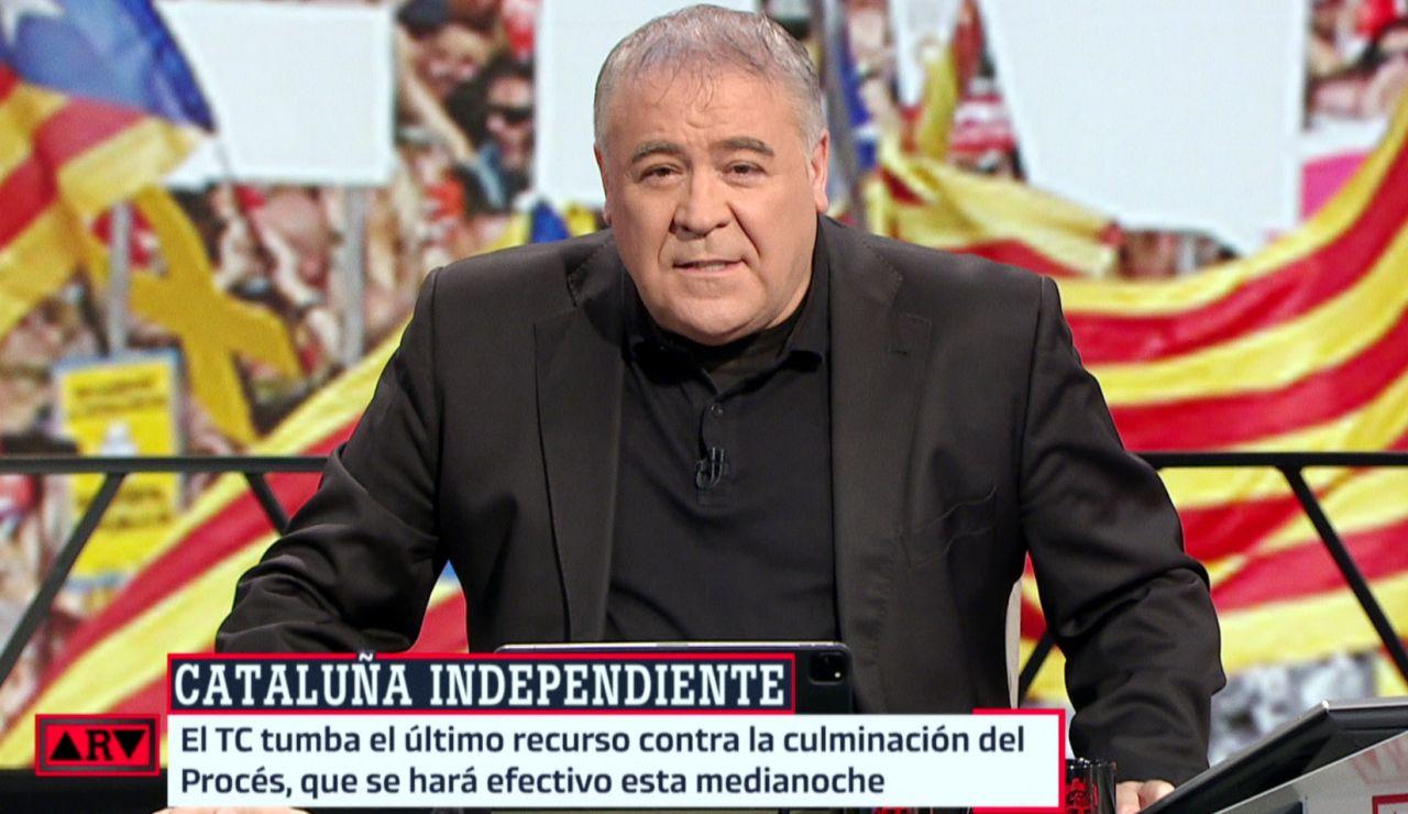 Ferreras informa de la inminente independencia de Cataluña: el mal sueño de Povedilla