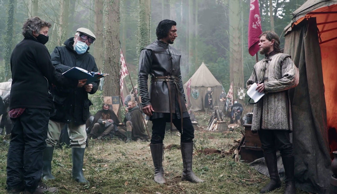 Ridley Scott dirigiendo 'El último duelo'