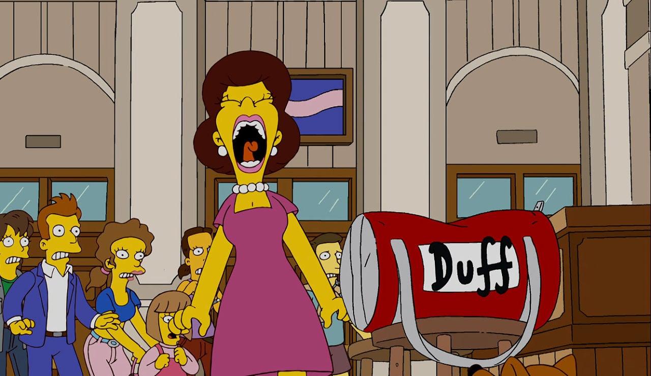 Homer provoca el pánico en la estación