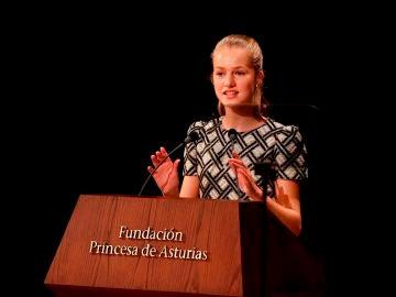 """Leonor emplaza a los jóvenes a construir un """"futuro más sostenible"""" en su discurso de los Premios Princesa de Asturias"""