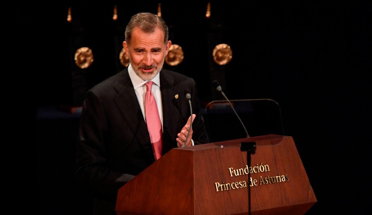 El discurso del Rey durante la entrega de los Premios Princesa de Asturias: