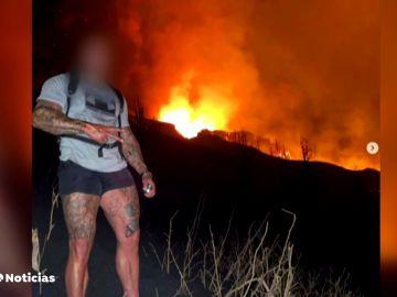 Identificados cuatro ingleses que se saltaron las restricciones fotografiarse con el volcán de La Palma
