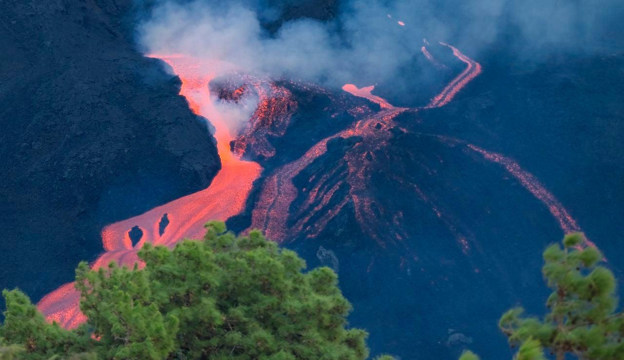 Una de las coladas del volcán