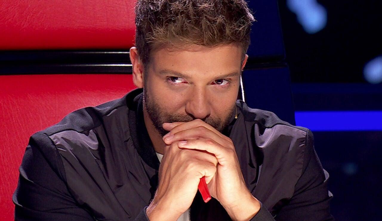 Pablo Alborán, muy emocionado en 'La Voz'