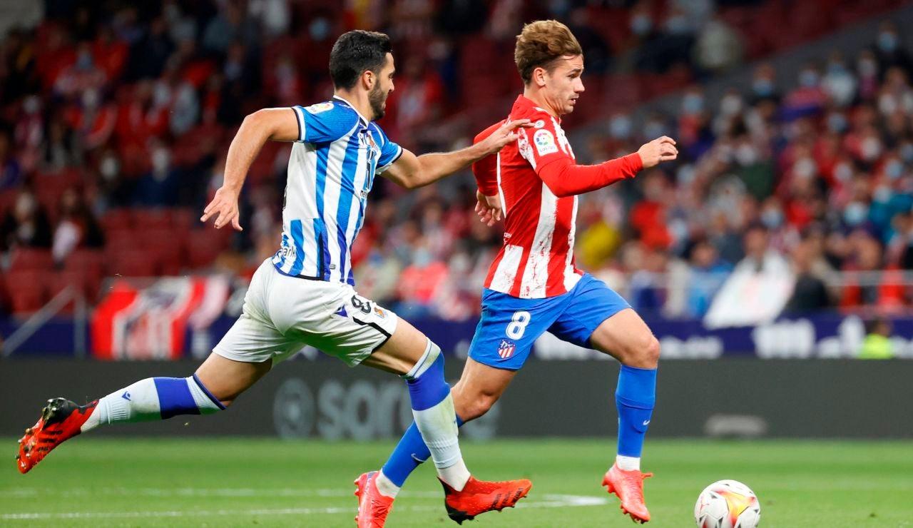 La Real Sociedad sigue líder de la Liga tras empatar a 2 contra el Atlético de Madrid