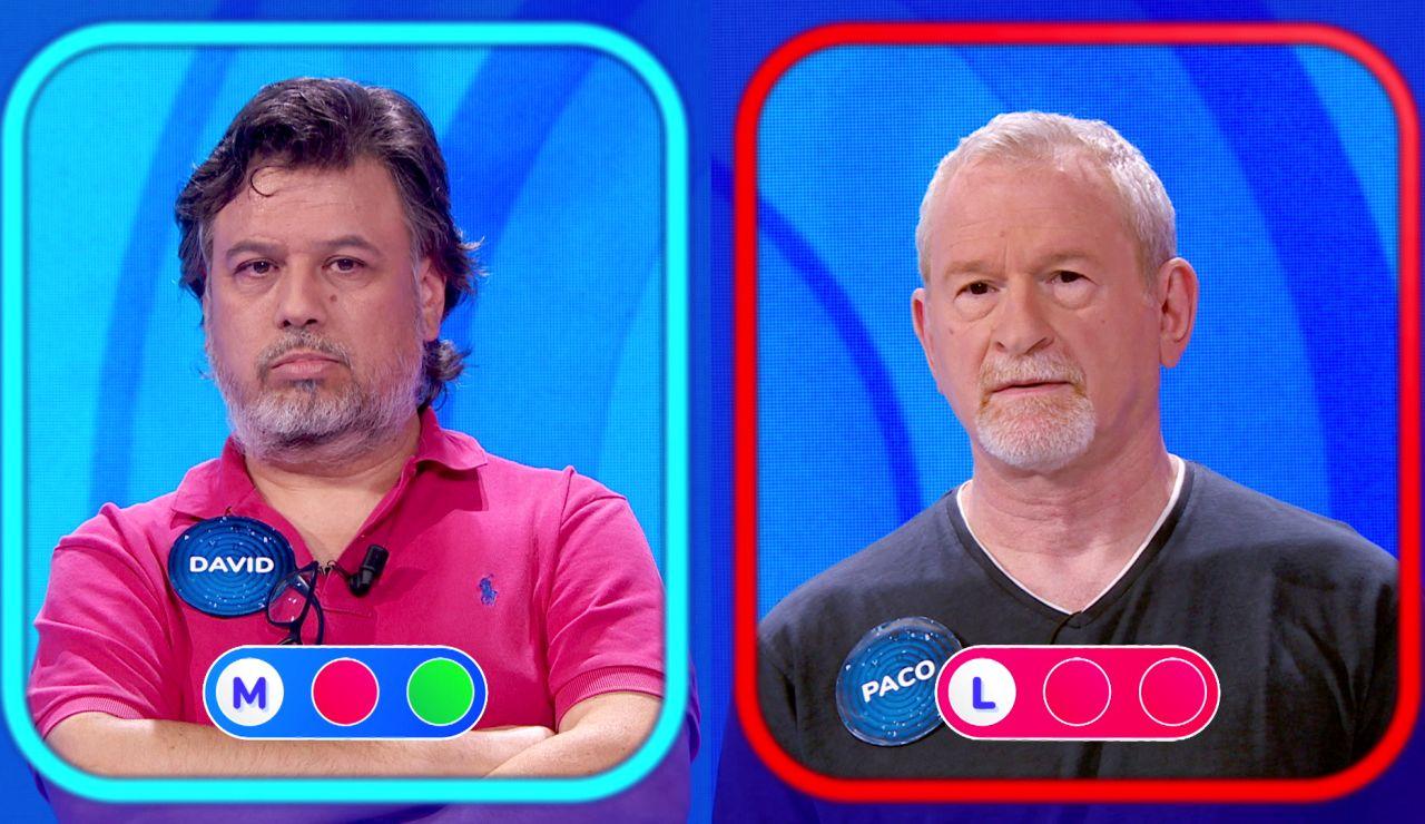 Nuevo relevo en 'Pasapalabra': Paco, eliminado por David en la 'Silla Azul'