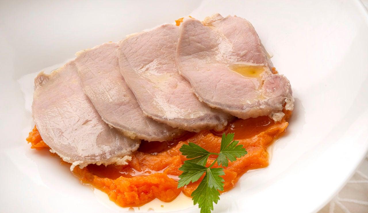 Karlos Arguiñano: lomo de cerdo a la sal con puré de boniato