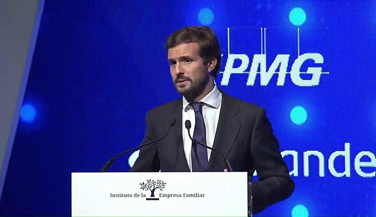 """Pablo Casado asegura que se llegará """"hasta el final"""" para que se mantenga la reforma laboral"""