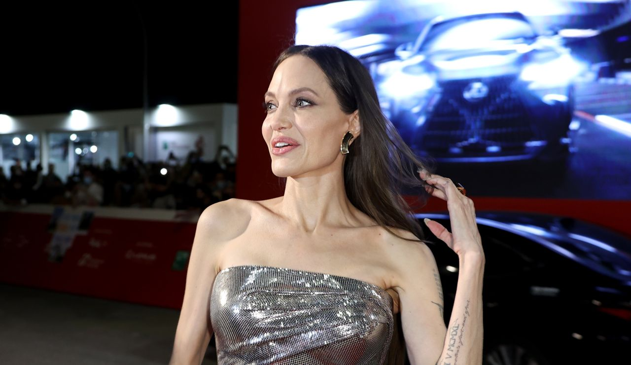 Angelina Jolie en la presentación de 'Eternals' en Roma