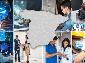 Estos son los trabajos más demandados por provincias en España en 2021