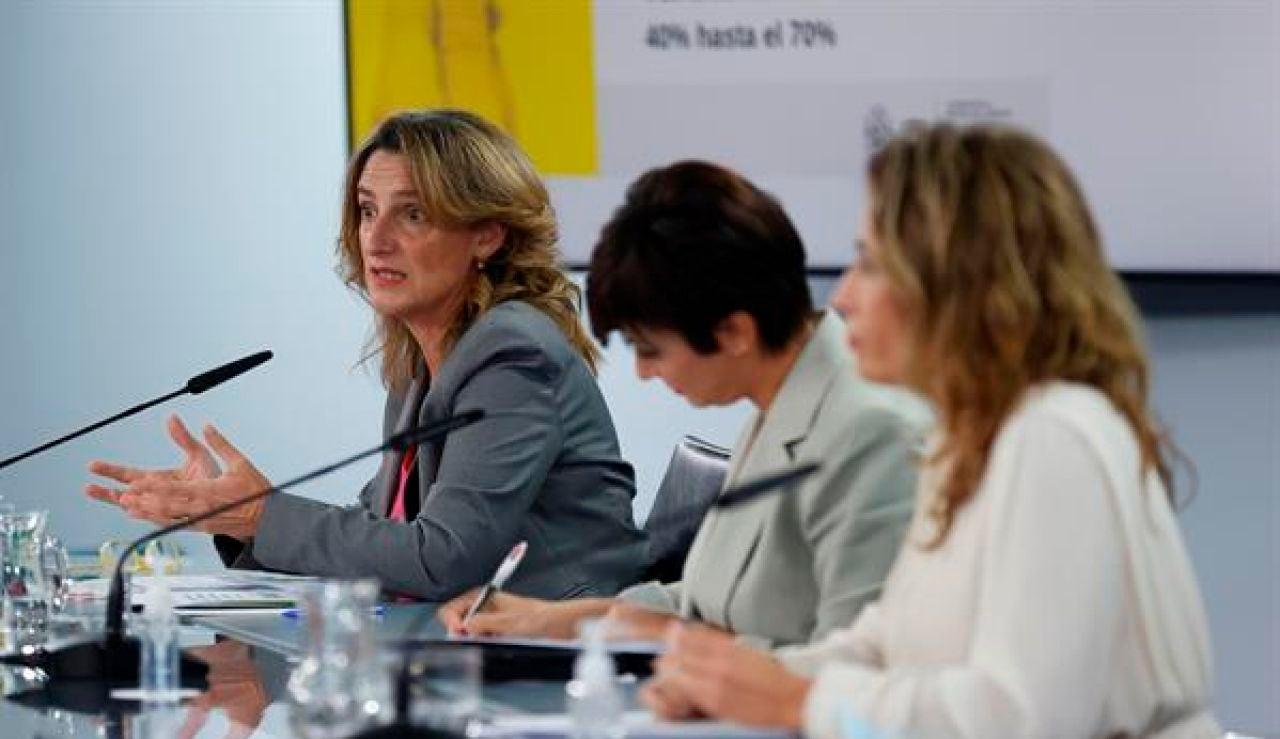 Teresa Ribera en la rueda de prensa tras el Consejo de Ministros