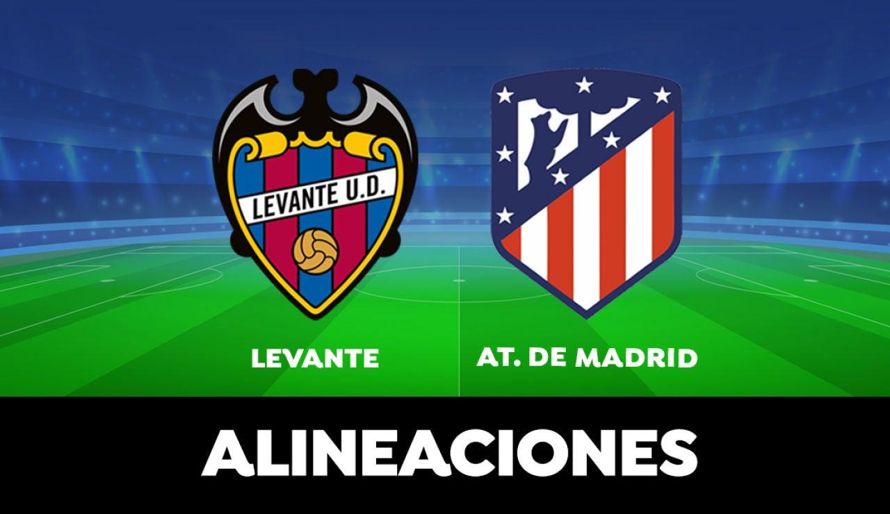 Alineación del Atlético de Madrid en el partido de hoy frente al Levante