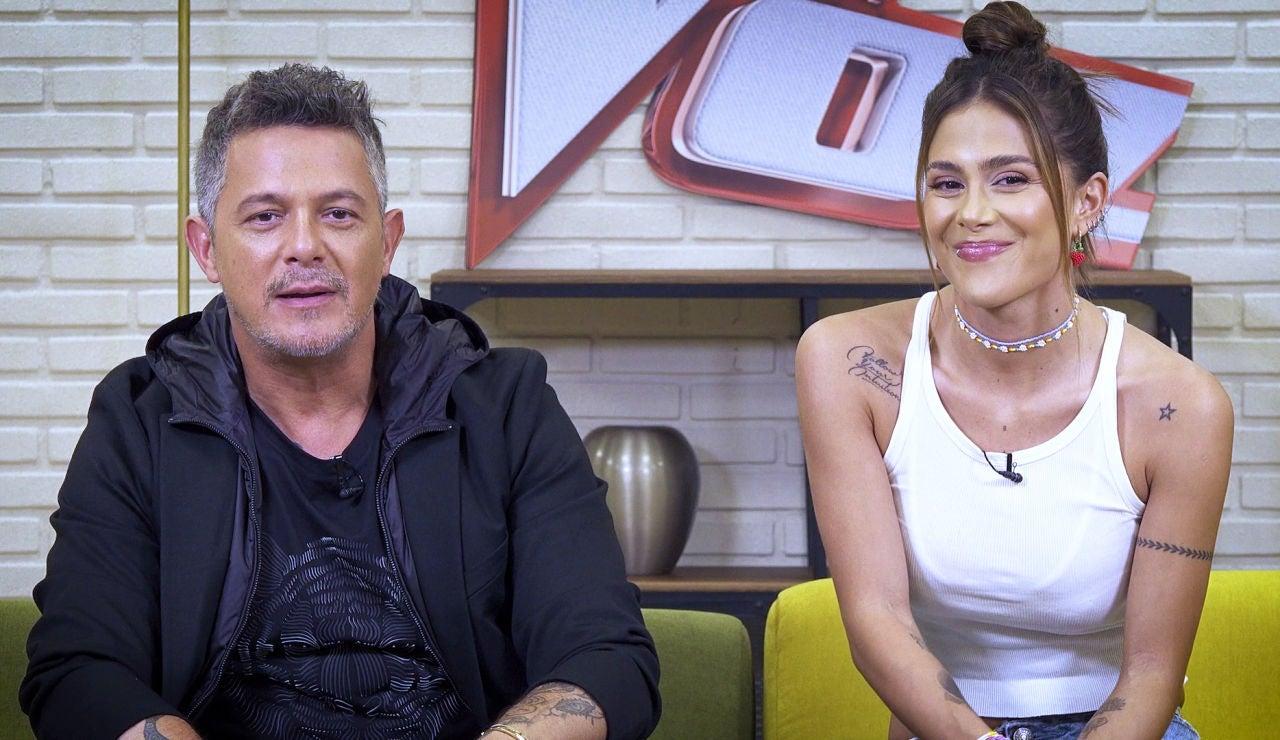 """Alejandro Sanz, orgulloso de Greeicy, su asesora en 'La Voz': """"Es muy importante para mí su opinión"""""""