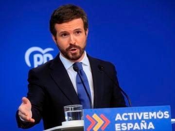 """Pablo Casado pide al Gobierno que acabe con """"la jaula de grillos"""" y """"deje de pelearse"""" por la reforma laboral"""