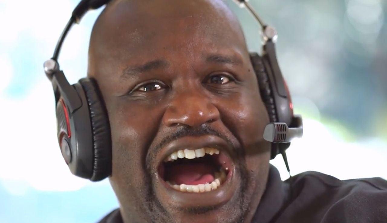Shaquille O'Neal, durante una retransmisión en Twitch
