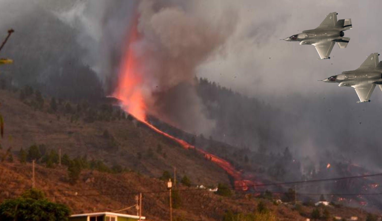 Bombardear el volcán de La Palma