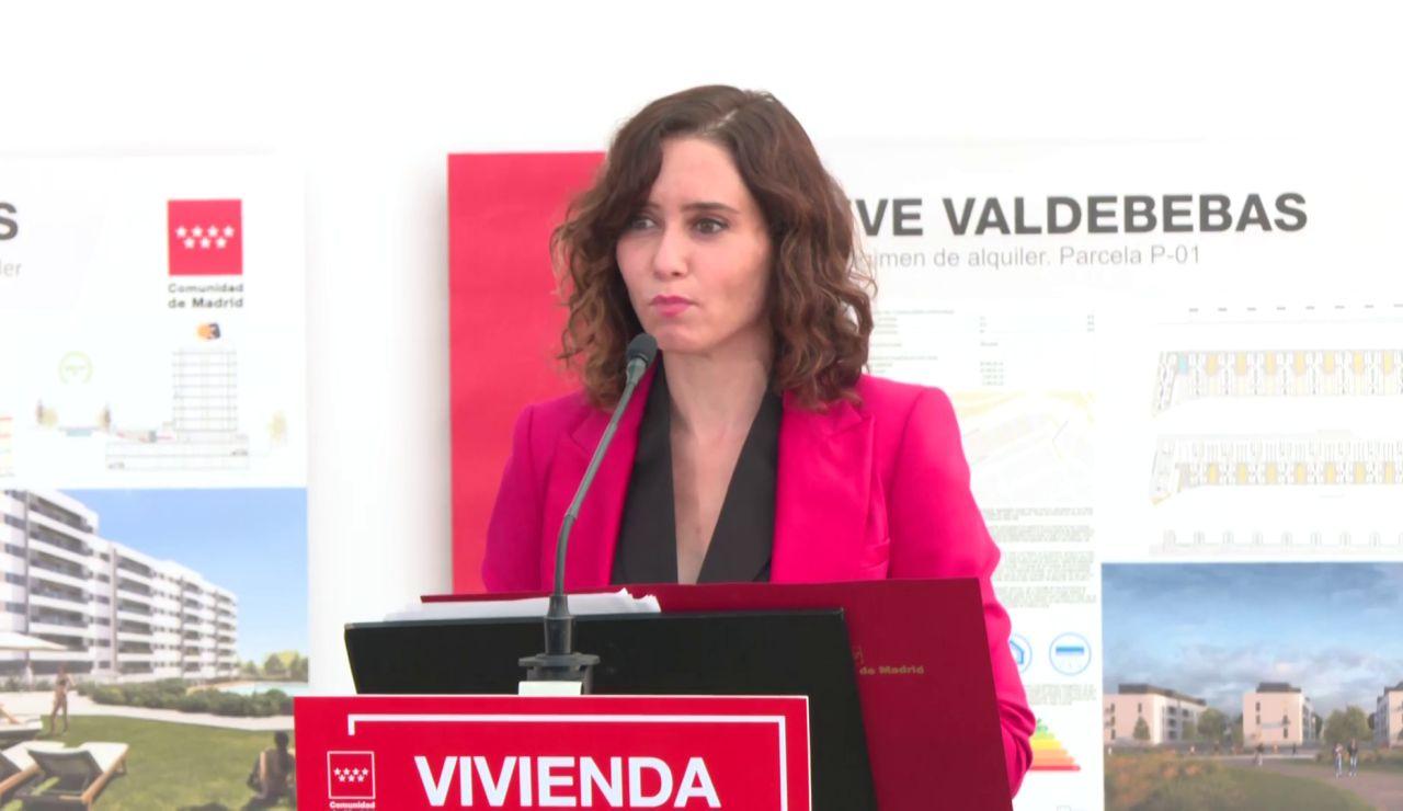 """La presidenta de Madrid, Isabel Díaz Ayuso: """"Estamos ante el Gobierno más autoritario de la dictadura"""""""