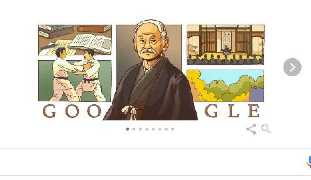 Google celebra hoy con un doodle el 161 cumpleaños del 'padre del judo': Kanō Jigorō