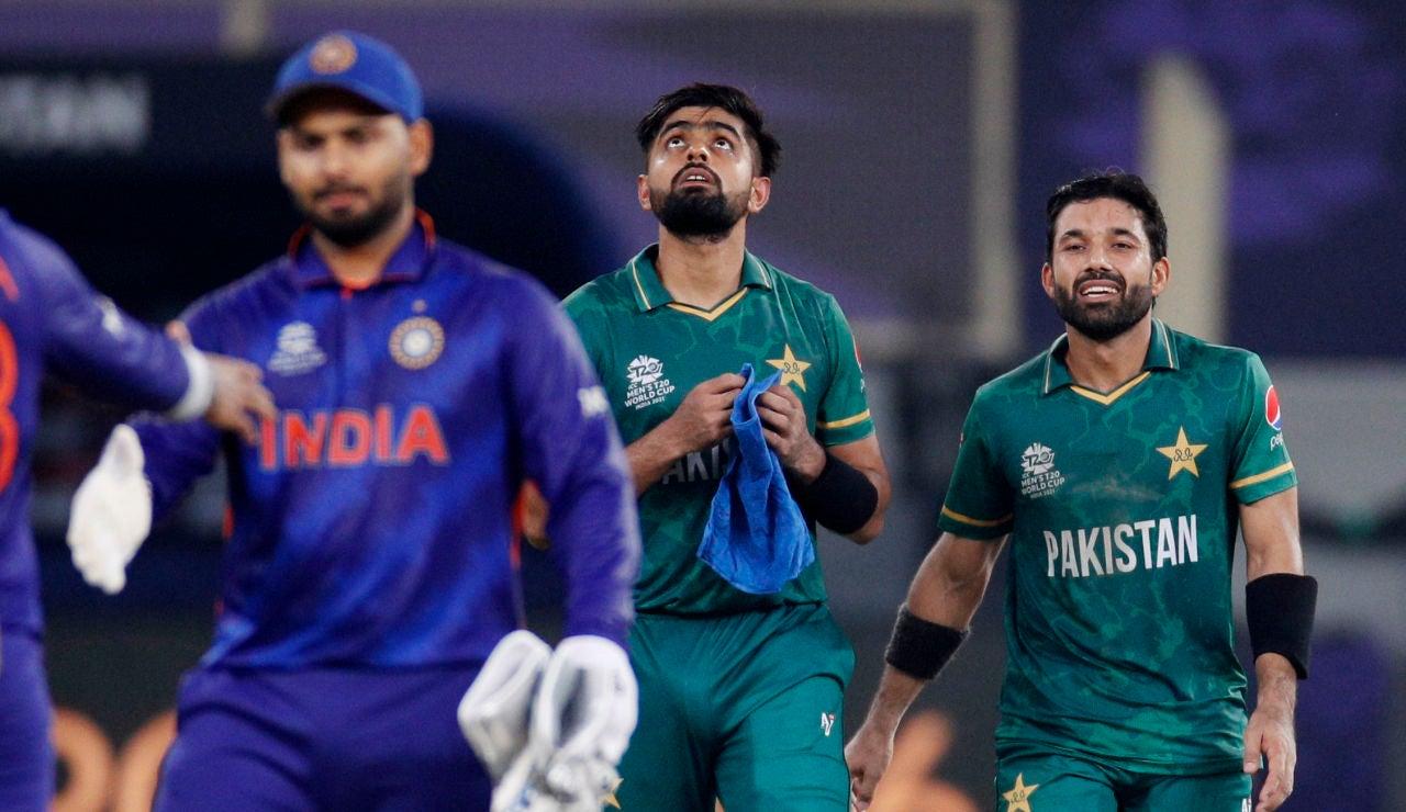 Una imagen del partido de criquet entre India y Pakistán